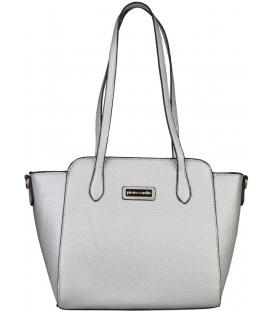 Strieborná štýlová kabelka s dlhými rúčkami  - Pierre Cardin