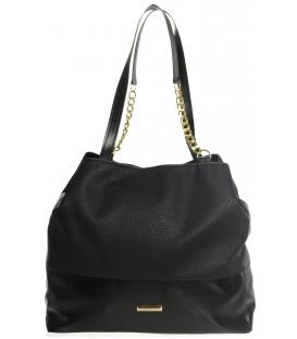 Čierna športová kabelka s retiazkami  S611 - Grosso