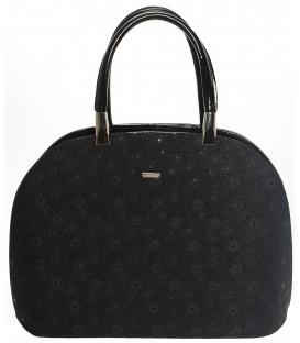 Elegantná dámska vystužená kabelka s potlačou S606 - GROSSO