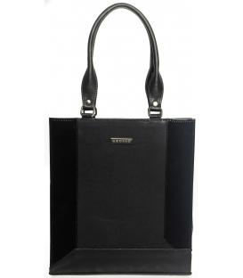 Matno-lesklá  vystužená elegantná kabelka S610 -Grosso