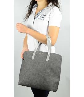 Sivá mramorová kabelka v anglickom štýle  S612 - Grosso