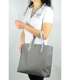 Sivá matná kabelka v anglickom štýle  S612 - Grosso