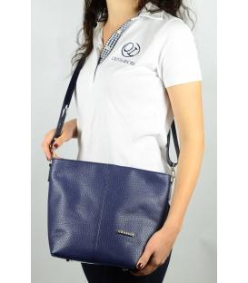Dámska crossbody kabelka v modréj farbe M326 - Grosso
