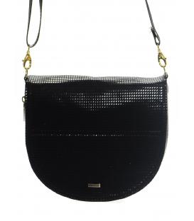 Čierna dierkovaná crossbody taška M199 - Grosso
