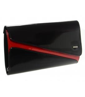 Čierna lakovaná spoločenská kabelka SP127 - Grosso