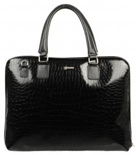 Praktická čierna úzka kabelka S562   Grosso