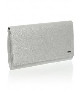 Stříbrná brokátová společenská kabelka SP100 - Grosso