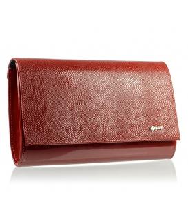 Červená veľká clutch kabelka s hadím vzorom SP114 - Grosso