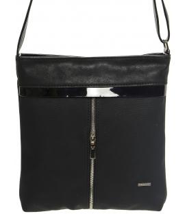 Čierna crossbody kabelka s jemným vzorovaním M198 - Grosso