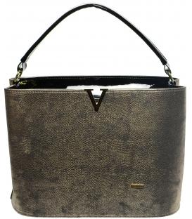 Zlatá elegantní kabelka s jemným potiskem S623 - Grosso