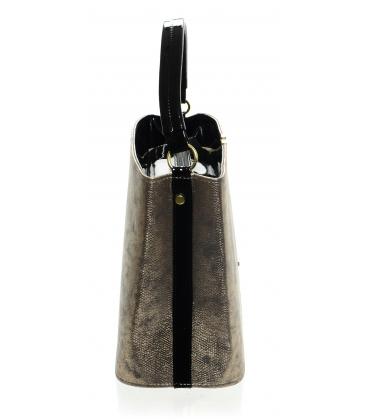 Zlatá elegantná kabelka s jemnou potlačou S623 - Grosso