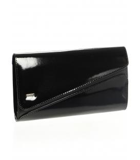 Čierna listová kabelka s efektným zapínaním SP127 - Grosso