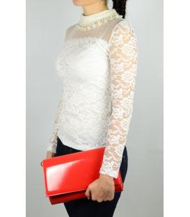 Červená lakovaná spoločenská kabelka SP100 - Grosso