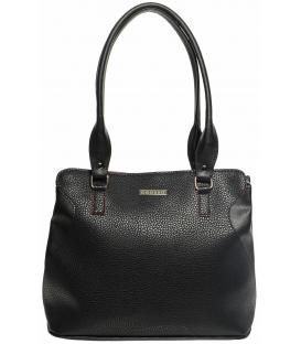 Čierno-červená kabelka s dlhými rúčkami S622 - Grosso