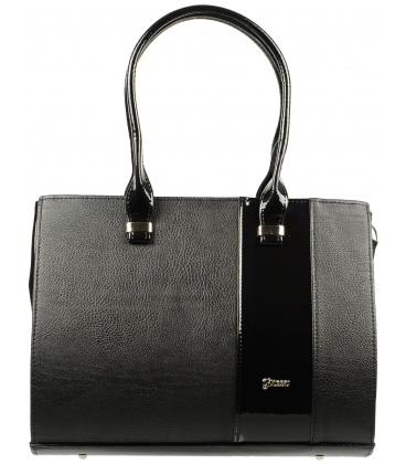 Čierna matno-leskla kabelka S499 teius - Grosso