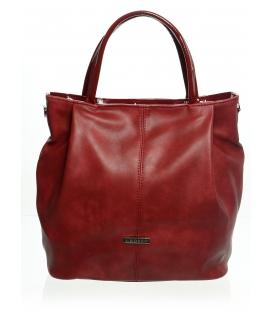Červená moderná mechová kabelka S400   Grosso