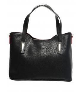 Elegantná matná čierna kabelka S609 - Grosso