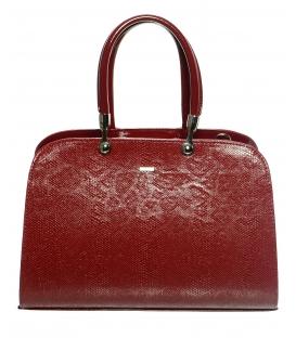 Červená elegantná vystužená kabelka S599 - Grosso