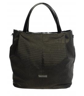 černá brokátová mechová kabelka S 400 Grosso