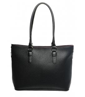 Praktická černá kabelka s dlouhými uchy S625 - Grosso