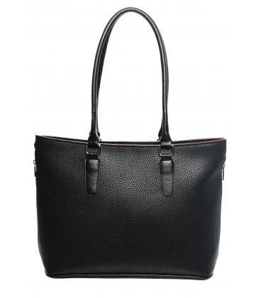 Praktická čierna kabelka s dlhými rúčkami S625 - Grosso