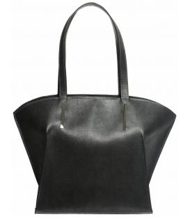 Tmavošedá väčšia kabelka s vystužením S626 - Grosso