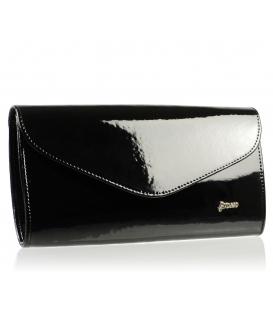 Čierna lakovaná clutch kabelka SP102 - Grosso
