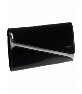 Čierno-strieborná spoločenská kabelka SP127 - Grosso