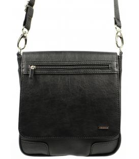 Čierna pánska crossbody taška z matného materiálu MP1   Grosso