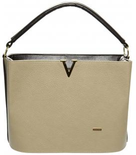 Tmavě-stříbrná elegantní kabelka S623 - Grosso