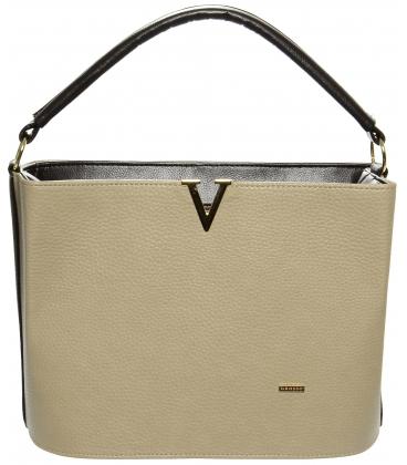 Béžová elegantní kabelka S623 - Grosso