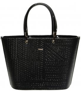 Čierna matná elegantná kabelka S629 -Grosso