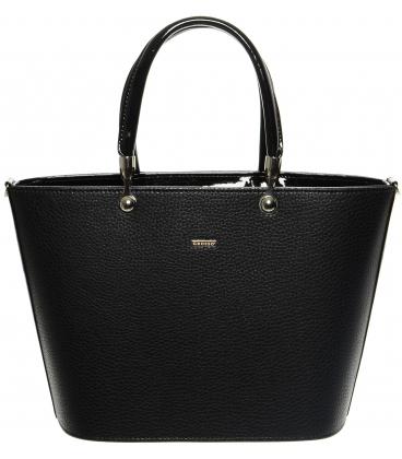 Čierna matná kabelka s vystužením S629 -Grosso