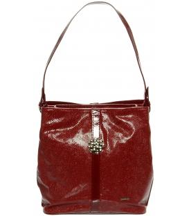 Červená kabelka přes rameno S404 - Grosso