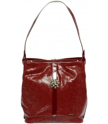 Červená kabelka cez rameno S404 - Grosso
