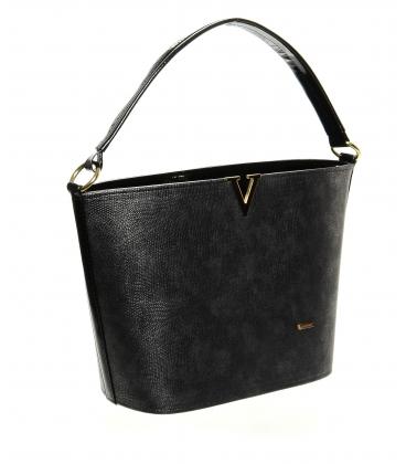 Tmavá strieborná elegantná kabelka S629 - Grosso