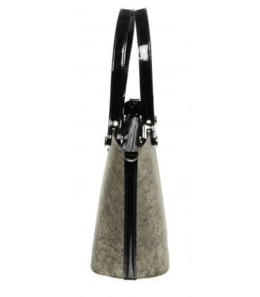 Zlato-čierna vystužená kabelka S631 - Grosso