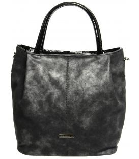 Tmavě stříbrná patinovaná kabelka S400 - Grosso