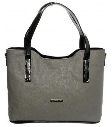 Elegantní matná šedá kabelka S609 - Grosso