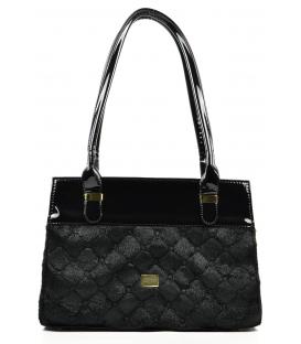 Čierna kožušinková kabelka S479 - Grosso