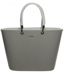 Sivá matná kabelka s vystužením S630 -Grosso