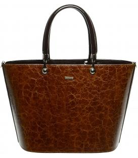 Koňakovo-hnedá kabelka s vystužením S630 -Grosso