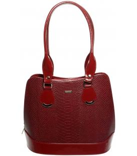 Červená kroko kabelka s dlhými rúčkami S608 - Grosso