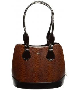 Hnedá kabelka s dlhými rúčkami S608 - Grosso
