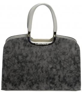 Šedá elegantná kabelka do ruky S6 - Grosso