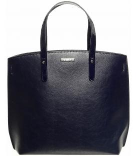 Modrá kabelka s lakovanými rúčkami S612 - Grosso