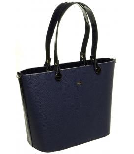 Modrá vystužená kabelka cez rameno S631 - Grosso