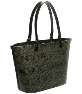 Olivovo-zelená vystužená kabelka S631 - Grosso