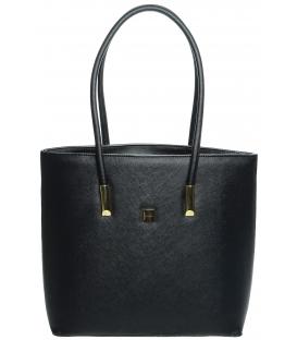 Čierna veľká vystužená kabelka S635 - Grosso