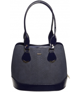 Modrá kroko kabelka s dlhými rúčkami S608 - Grosso